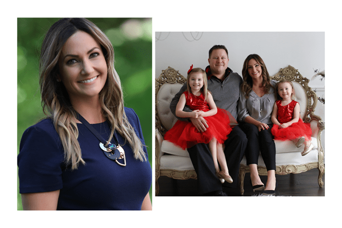 Photo of our dentist in Troy, Dr. Kristen Balutowicz and her family